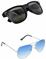 Redix New 2 in 1 combo Traditionall Sunglasses (Blue-Black)