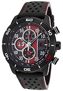 Citizen Watch Limited Edition Primo Men's Quartz Watch with Black Dial Analogue Display and Black PU Strap CA0530-41E