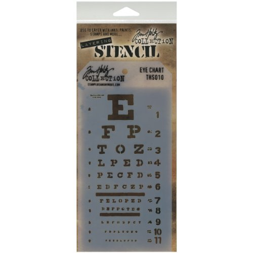 Stampers Anonymous Tim Holtz Layered Stencil, 4.125 by 8.5-Inch, Eye Chart (Chart Stencil compare prices)