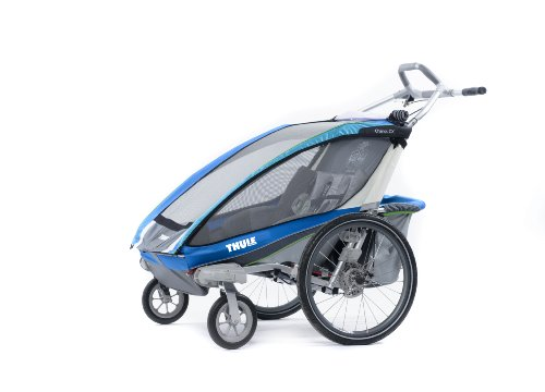 Thule Chariot Cx Double Stroller - Blue front-941044