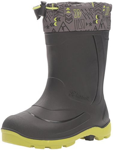 Kamik Kids' Snobuster2 Snow Boot, Charcoal/Lime, 9 M US Toddler (Canada Snow Shoes compare prices)