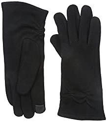 Gloves International Women's Wool Blend Gloves with Cinch, Black, X-Large