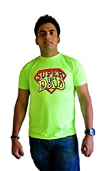 LetsFlaunt Super Dad T-shirt Guys Green Dry-Fit-Small Nw