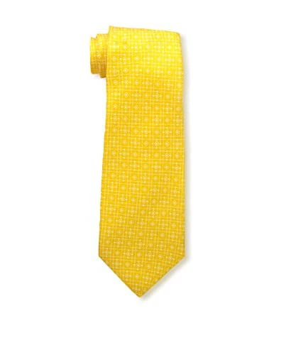 Kiton Men's Patterned Tie, Yellow