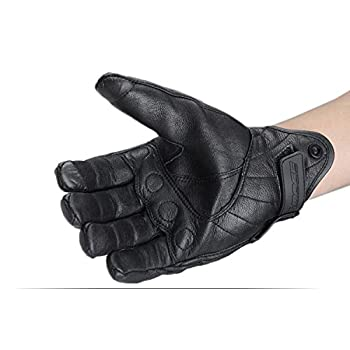 Size L Retro Motorcycle racing gloves Motocross Waterproof Moto full finger glove Windproof leather Touch gloves