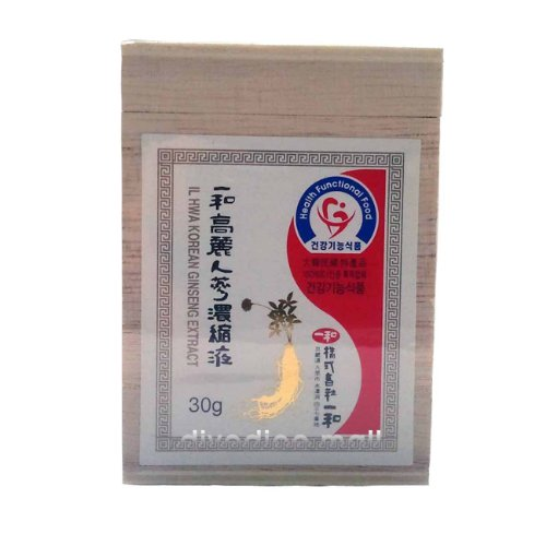 Ilhwa Korean Ginseng Concentrated Pure Extract 30G, Top Ginsenosides Contents Il Hwa Panax (Parallel Import)