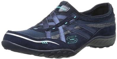 Skechers Women's Breathe-Easy Trainers Blue Navy Blue Blau (NVY) Size: 35