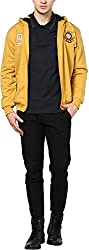 Okane Men's Cotton Regular Fit Sweatshirt (35527 YELLOW L, Yellow, L)