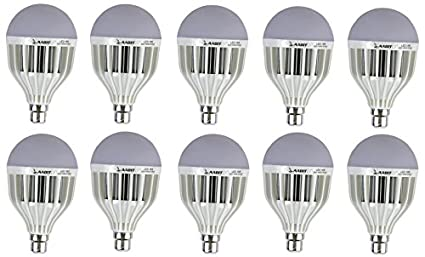 High Power 18W LED Bulbs (White, Pack of 10)