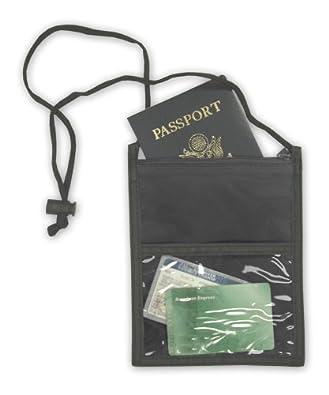 Ensign Peak Neck Wallet, Black