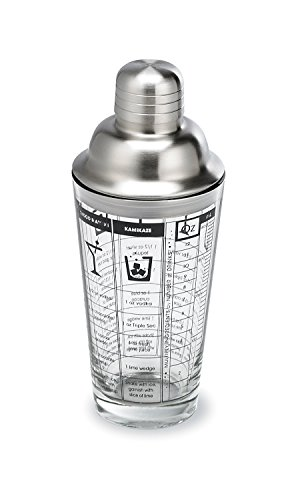 Glass & Stainless-Steel Cocktail Shaker (Recipe Cocktail Shaker compare prices)
