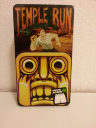 Temple Run Lounge Sleep Shorts Boxers  Sz XL  100% cotton in Tin Picture