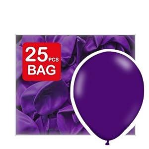 25 x 12 inch Purple Metallic Wedding Balloons