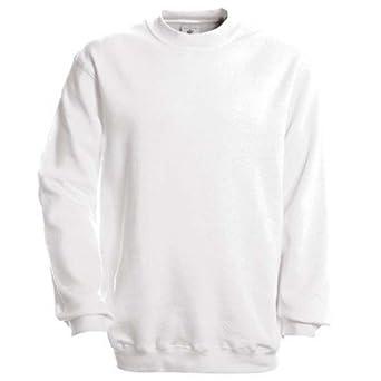 B&C - Sweatshirt à col rond - Homme (2XL - 135cm) (Blanc)