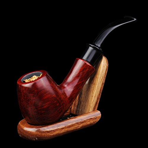 LifeVV Handmade Red Ebony Wooden Tobacco Smoking Pipe With Accessories And Gift Package (Tobacco Package compare prices)