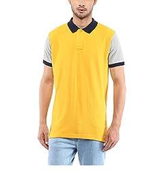 Yepme Men's Yellow Cotton Polos - YPMPOLO0488_L