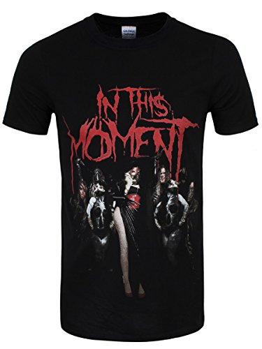 T-shirt In This Moment Group da uomo in nero