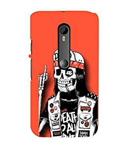 EPICCASE Skull Pirate Mobile Back Case Cover For Moto X Style (Designer Case)