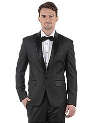 MENJESTIC Men's Slim Fit Tuxedo TBS_42_Black_X-Large