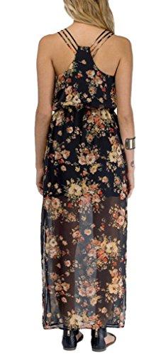 Hodooyee Floral Sweet Floor Length Suspenders Dresses Size Us 4 Black