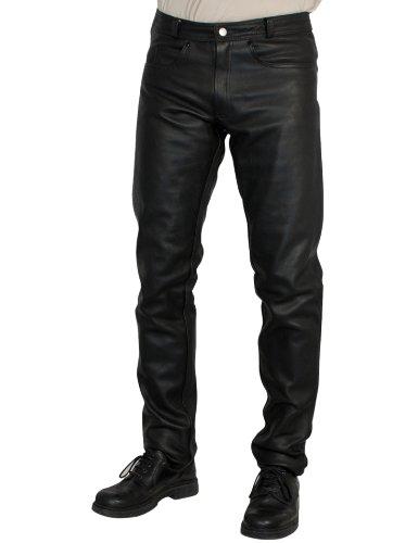 Roleff Racewear 246 Pantaloni in Pelle, Nero, 46H