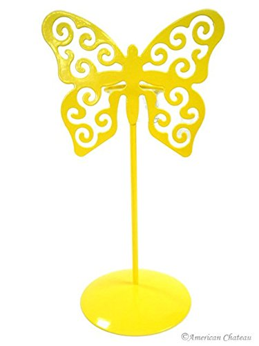 Yellow Butterfly Votive Candle Holders with Glass Metal Holder Table Top Candles