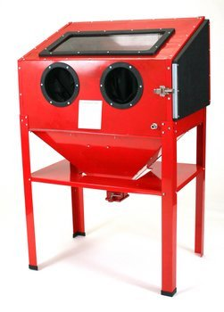New 60 Gallon Sandblast Cabinet Sand Blaster Air Tool w/ 40lb bottom feed hopper