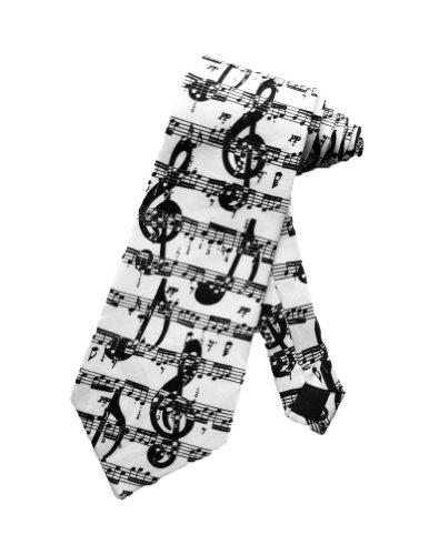 Steven-Harris-Musikalisch-Noten-Symbole-Krawatte-wei-Einheitsgre
