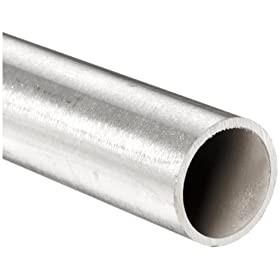 "Stainless Steel 316L Seamless Round Tubing, 1/4"" OD, 0.21"" ID, 0.02"" Wall, 72"" Length"