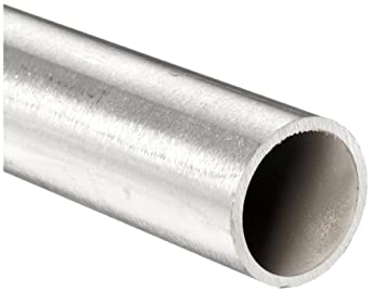 "Stainless Steel 316L Seamless Round Tubing, 3/16"" OD, 0.132"" ID, 0.028"" Wall, 12"" Length"