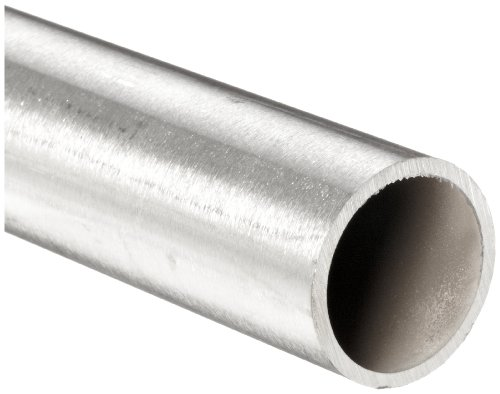 "Stainless Steel 316L Seamless Round Tubing, 7/8"" OD, 0.745"" ID, 0.065"" Wall, 12"" Length"