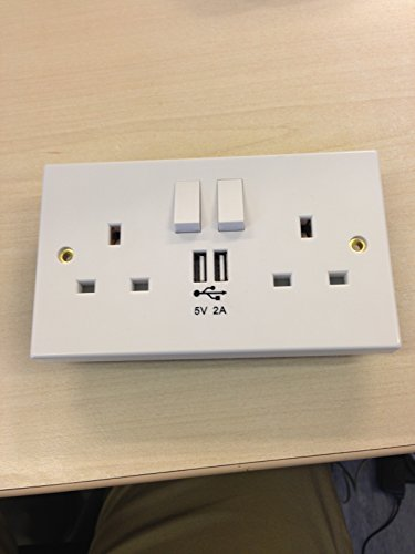 10 x USB WALL MOUNT SOCKET WITH TWIN USB OUTLET
