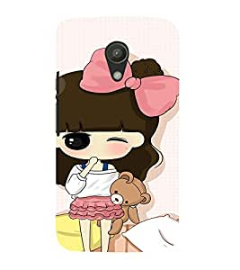 EPICCASE Little girl winking Mobile Back Case Cover For Moto G 2nd Gen (Designer Case)
