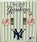 New York Yankees Metal Double Light Switch Cover