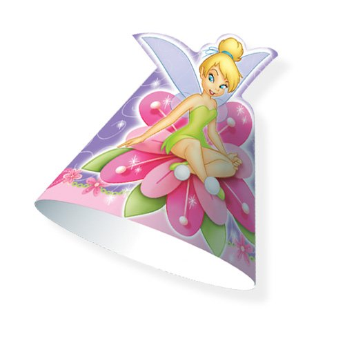 Disney Fairies TINKERBELL Party Hats TINK of PETER PAN (8 Count) - 1
