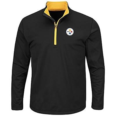 Pittsburgh Steelers Majestic NFL Scoreboard Men's 1/2 Zip Lightweight Sweatshirt