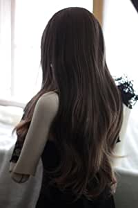 Dark Brown Sexy Heat Friendly Long Curly Wavy Lolita Cosplay Party Hair Wig 26'' 65cm
