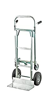 "Harper Trucks 850 lb Capacity Aluminum Convertible Hand Truck and Dolly with 10"" Pneumatic Wheels"