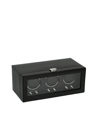 Wolf Designs 270202 Heritage Module 2.1 Triple Watch Winder with Cover