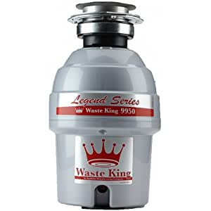 Waste King 9950 Legend Series 3/4 HP Continuous Feed Operation Garbage Disposer