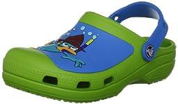 crocs SS13 Phineas Ferb Clog (Toddler/Little Kid),Volt Green/Ocean,8 M US Toddler