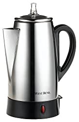 West Bend 54149 12-Cup Automatic Coffee Percolator, Stainless Steel made by West Bend