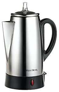 West Bend 54149 12-Cup Automatic Coffee Percolator, Stainless Steel from West Bend