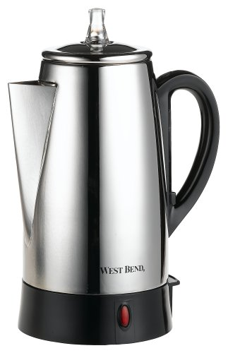 West Bend Coffee Maker Percolator : West Bend 54149 12-Cup Automatic Coffee Percolator, Stainless Steel made by West Bend at the ...