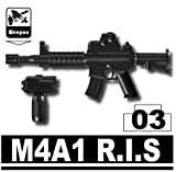 M4A1 R.I.S. Carbine 3 Pack in Black - Custom Minifigure Pieces