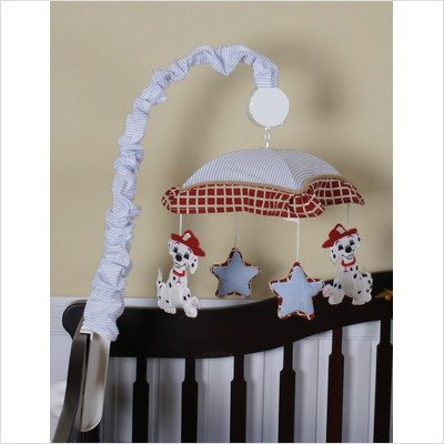Geenny Musical Mobile For Firetruck Fire Truck Crib Bedding Set