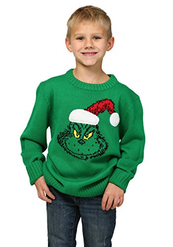 How The Grinch Stole Christmas Boys Ugly Sweater - 16 (Grinch Sweaters)