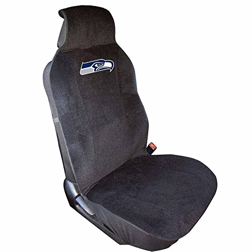 NFL Seattle Seahawks Seat Cover, One Size, Black (Car Seat Covers Seahawks compare prices)