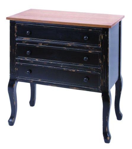 Distressed Black Dresser front-939689