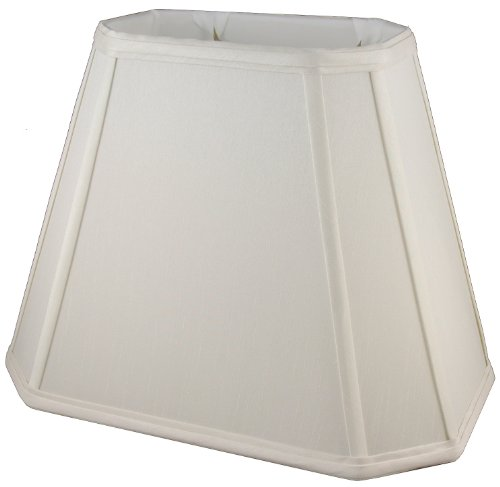 American Pride Lampshade Co. 19-78093216 Rectangle Soft Tailored Lampshade, Shantung, Off-white